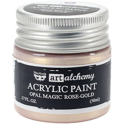 Finnabair Art Alchemy Acrylic Paint 1.7 Fluid Ounces-Opal Magic Rose/Gold