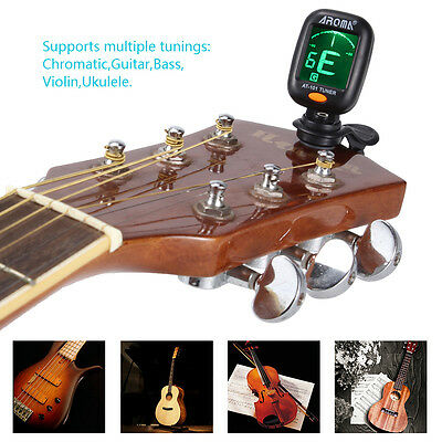 Chromatic Clip-On Tuner for Acoustic Electric Guitar Bass Ukulele Fancy