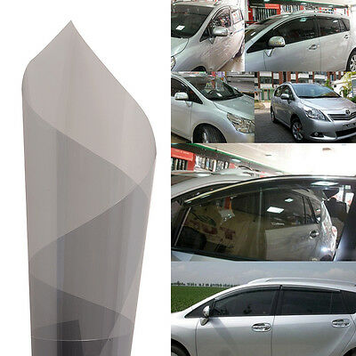 "20"" x 120"" Car Solar Film Scratch Resistant Membrane for Side Window Tint Gray"