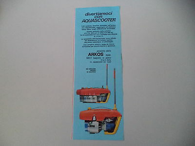 advertising Pubblicità 1979 AQUA SCOOTER ARKOS