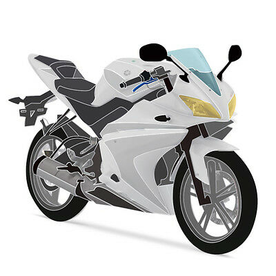 Full 20 Piece Fairing Panel Kit White/Black for YAMAHA YZF-R125 08-13