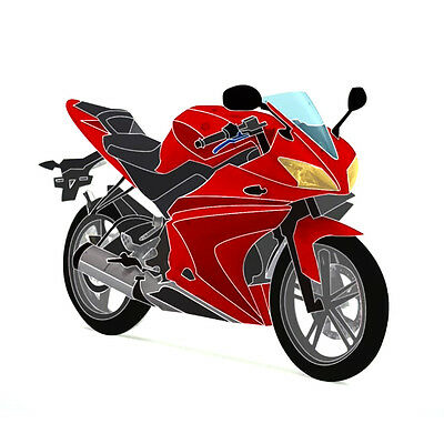 Full 20 Piece Fairing Panel Kit Red/Black for Yamaha YZF-R125 08-13