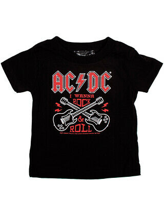 AC/DC Rock N Roll Tee Kids Baby Music Punk Alternative Shirt Black Cool Fun Gift