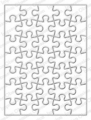 Puzzle Background DIE-Impression Obsession (448YY)suitable for most die cutters