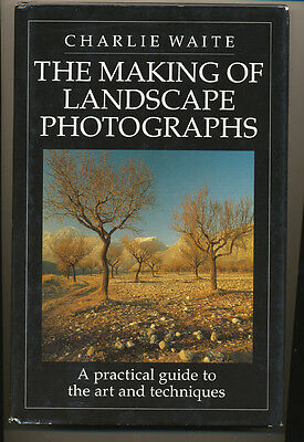 """Charlie Waite libro """"The making of landscape photographs"""" 1992 in inglese D879"""