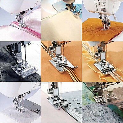 11 pcs Domestic Sewing Machine Presser Foot Feet Accessories Set Multifunctional