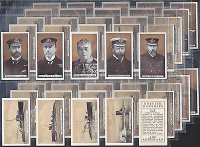 B.a.t.-Full Set- British Warships & Admirals - Exc+++
