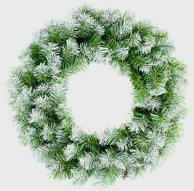 Premier Snow Tips Wreath  50cm