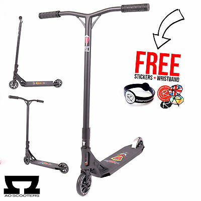 AO Scooters 2017 Stealth 4 Kids Complete Stunt Scooter, Black (MGP MADD Gear)