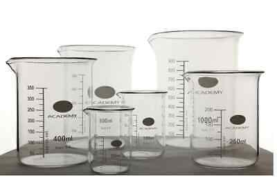 Borosilicate Glass Beakers laboratory Glassware Single Sizes & Beaker Sets