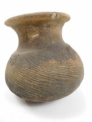 Antique Thai Cooking Pottery Jar Round Earthenware Ban Chiang 4000BC-200AD AB2