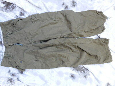 GENUINE ISSUE US ARMY Vietnam War og-107 m51 M65 BDU COMBAT TROUSERS 1973 DATED