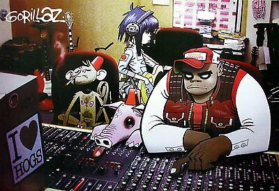 "GORILLAZ THE POSTER 24""x36 INCH MUSIC ROCK POP CONCERT NEW SIDE SHEET WALL PM183"