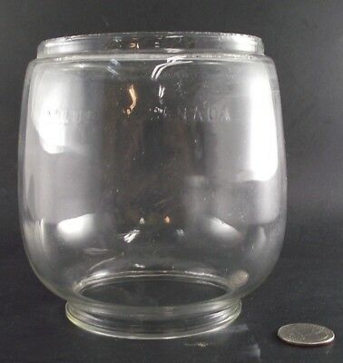 Vintage Made In Canada Coleman Lantern  Or Railroad Glass Shade