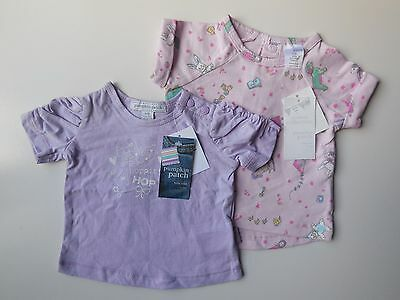 2 x PUMPKIN PATCH BABY GIRL TOPS SIZE 0000 NEWBORN * NEW