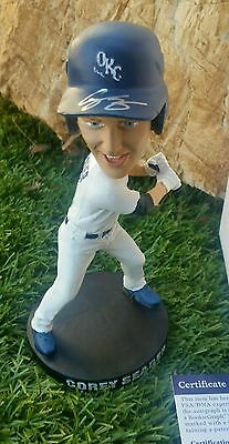 Limited Edition/2000 Corey Seager Signed Oklahoma City Dodgers Bobble Head  Psa