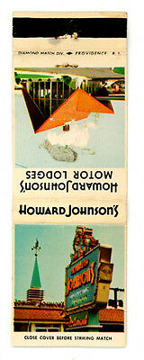 Match Book Cover Howard Johnsons Motor Lodges