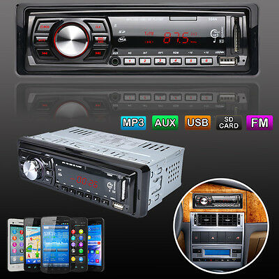 12V LCD In-Dash Car Stereo Audio Player 50Wx4 AUX SD USB MP3 FM Radio Receiver