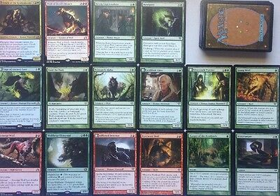 INSTANT WEREWOLF & WOLF DECK! 60 Card red And Green Ready To Play Magic Mtg