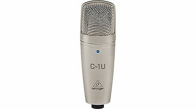 Behringer USB Condenser Microphone for Quality Home Recordings - Silver