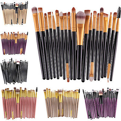 20pcs Pro Trousse pinceaux de maquillage cosmetique Makeup Brush Brosses Set Kit