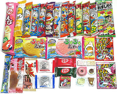 Dagashi Box 32pcs Assorted Okashi Japanese Candy Snacks Sweets Umaibo Japan Food