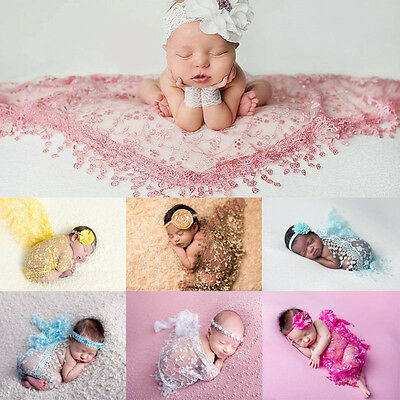 Newborn Baby Girl Boy Tassel Backdrop Wrap Cloth Prop Outfits Photo Photography