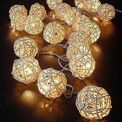 For Party Wedding Christmas Decor 20 LED Cotton Ball Fairy Led String Light Home