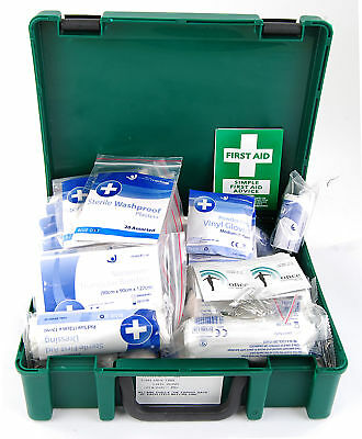 Crest Medical 10E 10 Person Standard HSE Compliant First Aid Kit Plasters Gloves