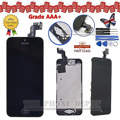For Apple iPhone 5C LCD Black Display Touch Screen Digitizer Camera Home Button