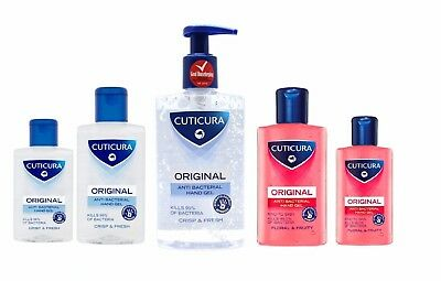 Cuticura Anti Bacterial Hand Gel Kills 99% of Bacteria Original AntiBacterial UK
