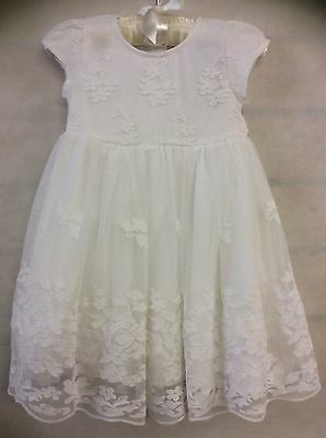 CHRISTENING & COMMUNION LACE DRESS SIZE'S 12/18 and 18/24 months