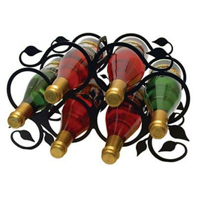 Village Wrought Iron WR-76-M Medium Leaf Design Wine Rack