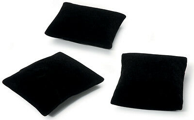 "Jewelry Display Pillows 3.25""X3.25""X1"" 3/Pkg-Black Velvet"