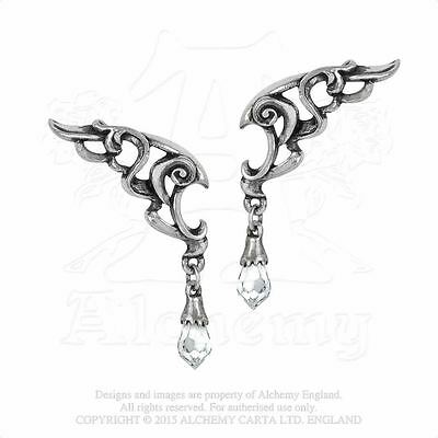 Alchemy Gothic Wings of Eternity Pewter Pair of Earrings BRAND NEW