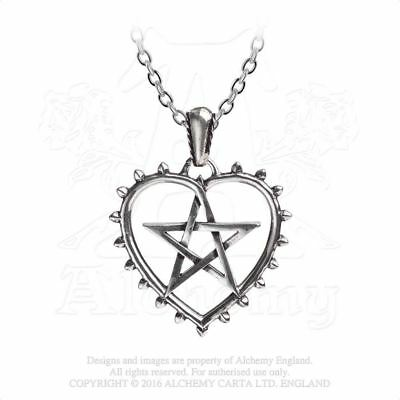 Alchemy Gothic Cunning Heart Pewter Pendant BRAND NEW