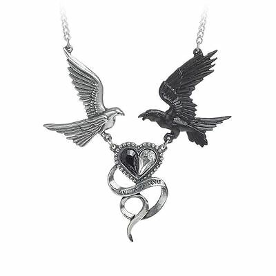 Alchemy Gothic Epiphany Of St. Corvus Pewter Necklace BRAND NEW