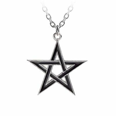 Alchemy Gothic Black Star Pewter Pendant BRAND NEW