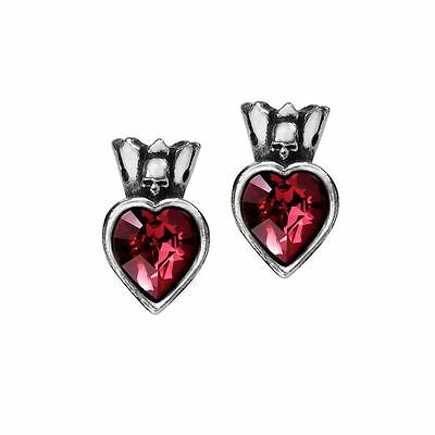 Alchemy Gothic Claddagh Heart Pewter Pair of Earrings BRAND NEW