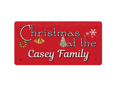 WP_XMAS_3201 Christmas at the Casey Family - Metal Wall Plate