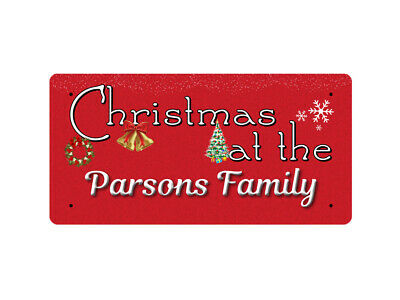 WP_XMAS_3719 Christmas at the Parsons Family - Metal Wall Plate