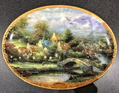 Thomas kinkade Lamplight County Limited Edition Plate by Bradford Exchange