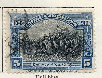 Chile 1910 Early Issue Fine Used 5c. 098056