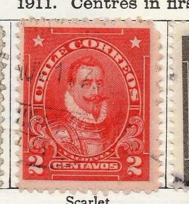 Chile 1911 Early Issue Fine Used 2c. 098061