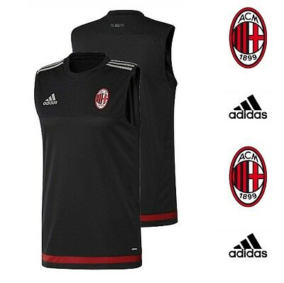 AC Milan adidas Football Training Shirt Mens Adults Team Vest Gym Top T-Shirt