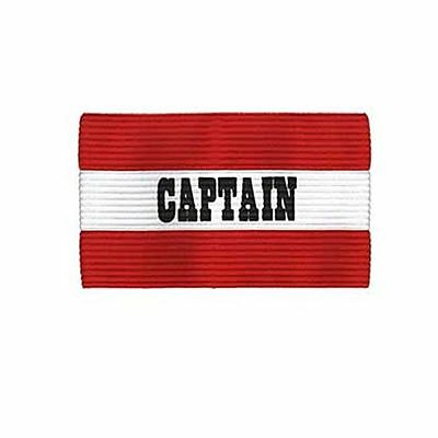 Champion Adult Soccer Captains Arm Band Red-White Seams Double Stitched New