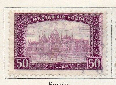 Hungary 1916 Early Issue Fine Used 50f. 098428