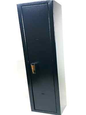 Heavy Duty M1 4 Gun Cabinet Scoped Rifle Shotgun Firearm  Safe Lock With 2 Keys