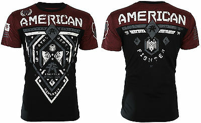 AMERICAN FIGHTER Men T-Shirt FAIRBANKS Athletic BLACK RUSTED RED Gym UFC $40 NWT