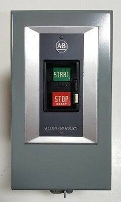 Allen Bradley 609-AAX Manual Starter, Push Button, 2HP @ 240V, 1HP @ 120V